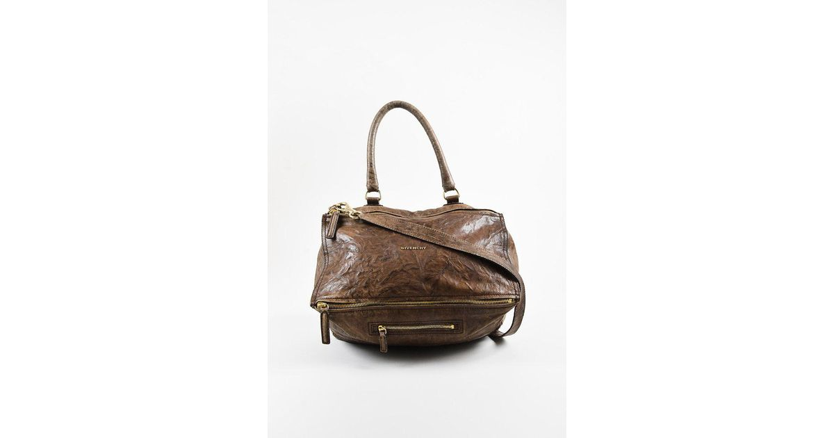 Givenchy Brown Crinkled Sheepskin Leather