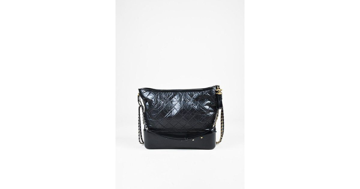 fc52ae0742e0 Chanel Black Quilted Aged Calfskin Leather