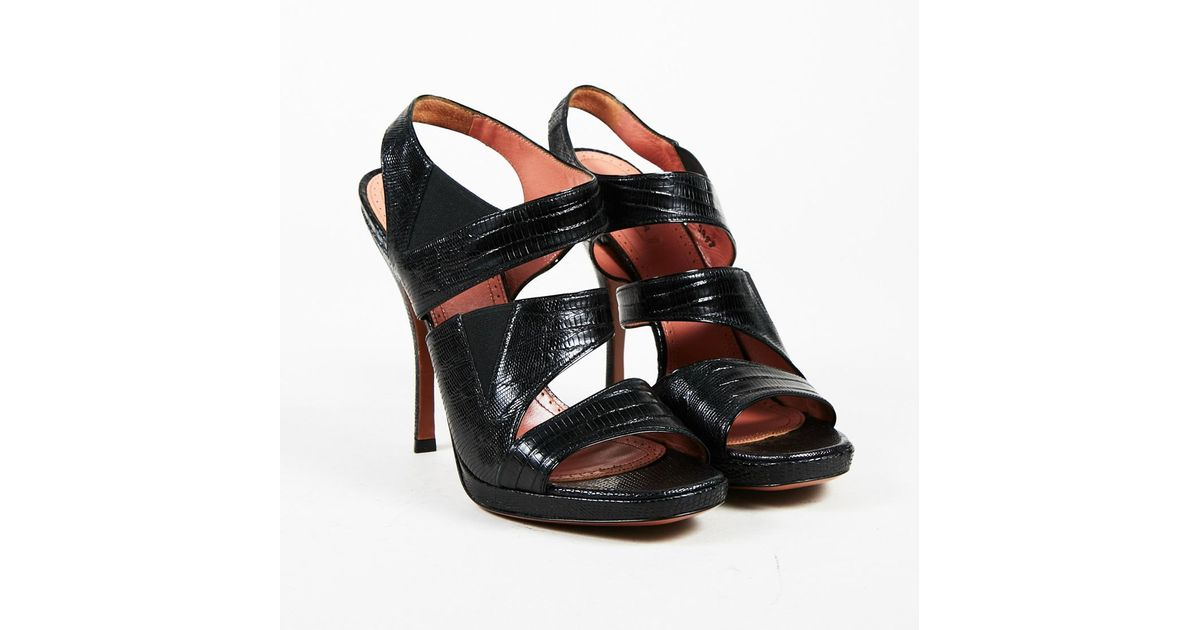 Alaïa Lizard Platform Sandals free shipping shopping online clearance discount with mastercard online best prices cheap online low price sale online iLj5FG
