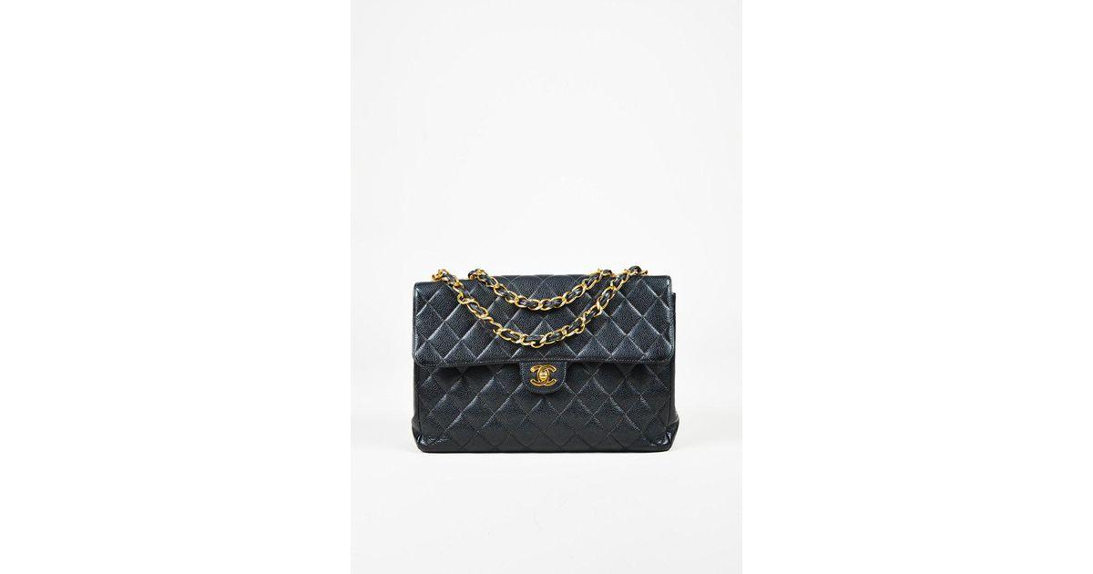 ddbb32fa76b3 Chanel Quilted Caviar Leather