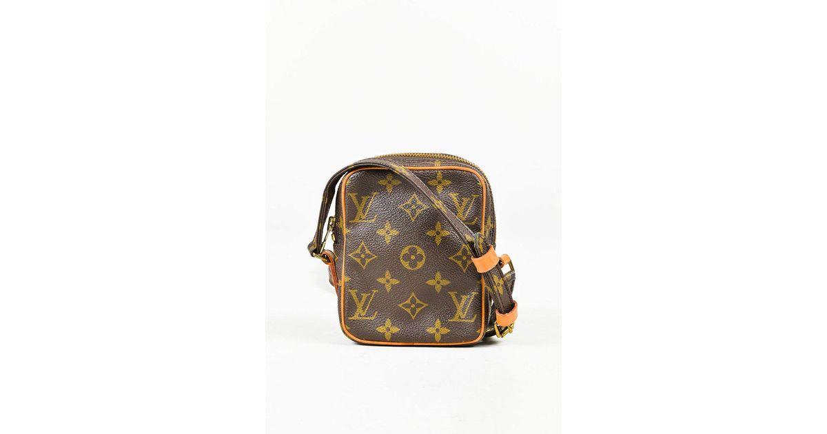 546379b7526d Lyst - Louis Vuitton Vintage Brown Monogram Coated Canvas