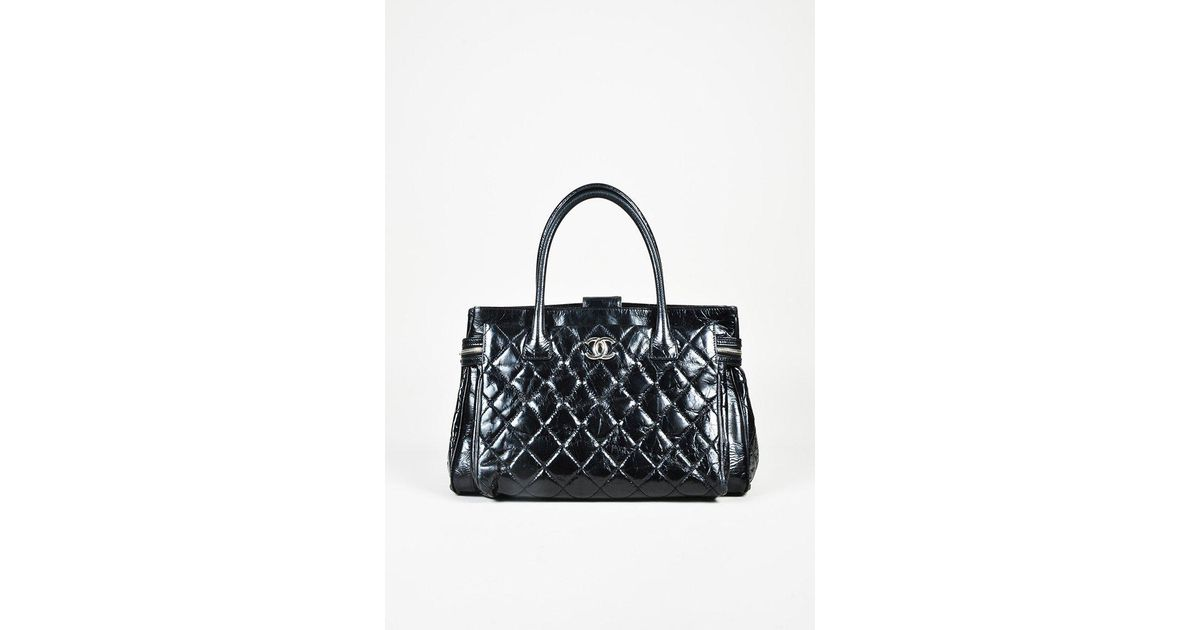 42bb359ca7dc Chanel Black Crinkled Calfskin Leather