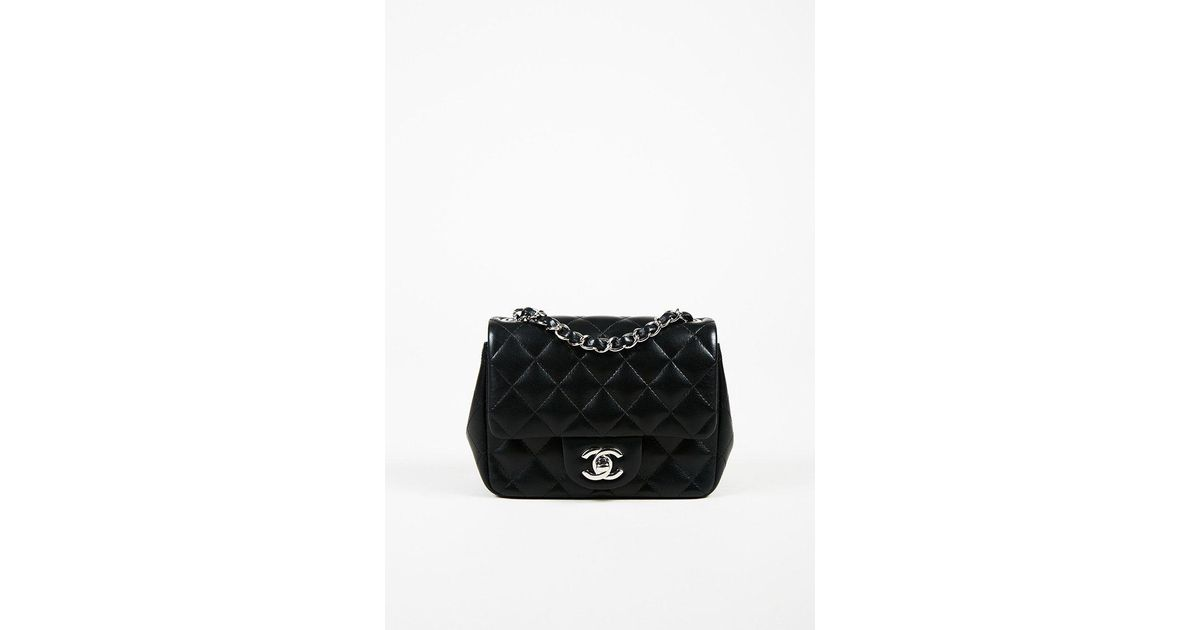5d0722c0955f Chanel Cruise 2016 Black Lambskin Quilted  cc  Mini Classic Flap Bag in  Black - Lyst
