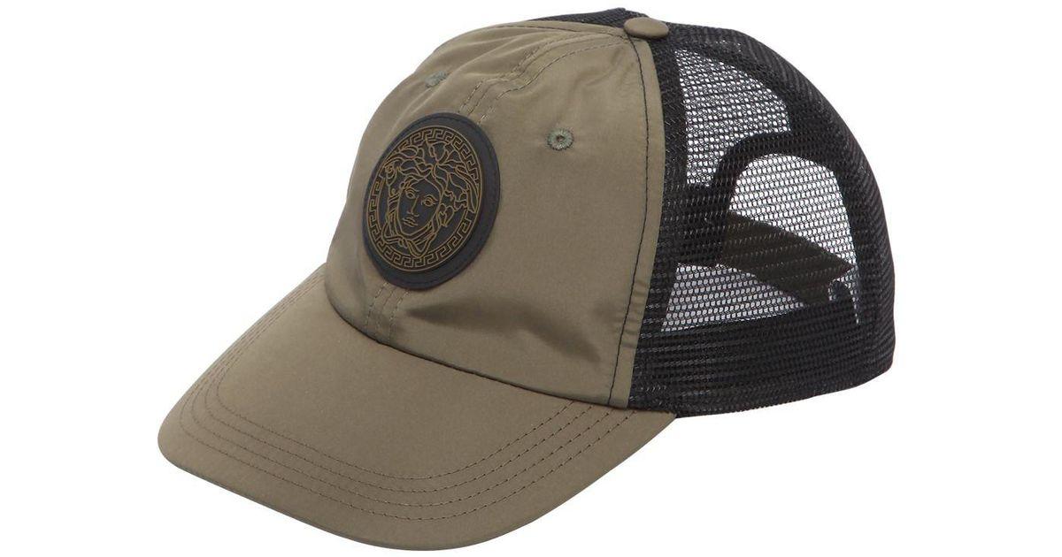 d9fe9a11543f20 Versace Medusa Baseball Hat in Green for Men - Lyst
