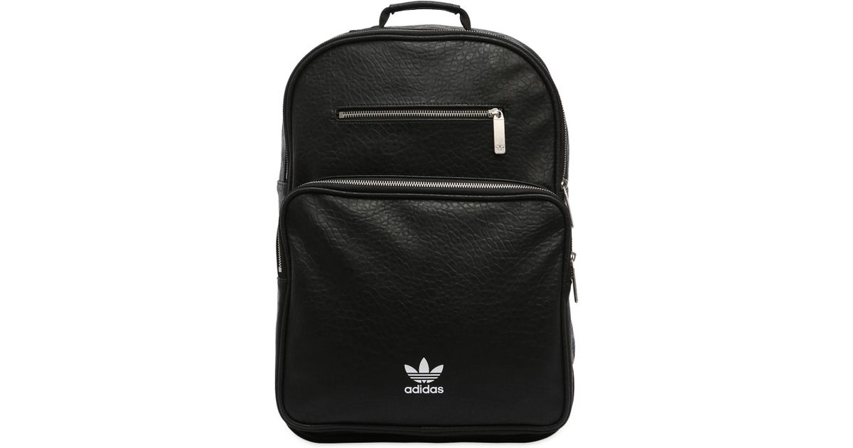 e8fc11d0f3 Lyst - adidas Originals Ac F Bp Classic Faux Leather Backpack in Black
