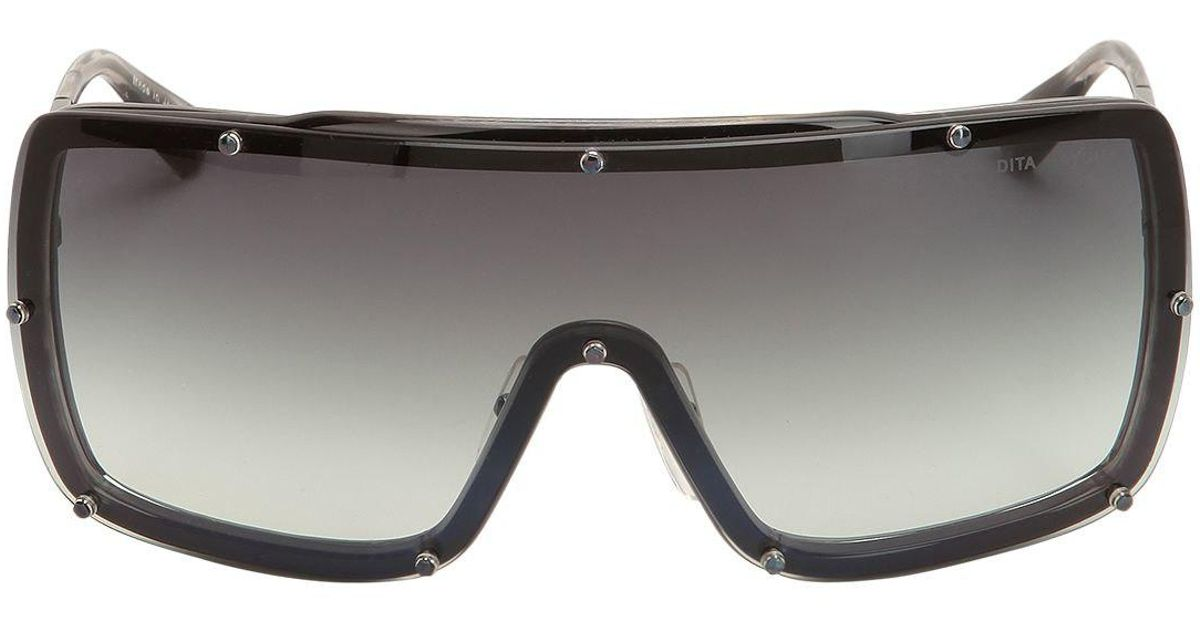 b8d7e2110243 DITA Raygun Iridescent Mask Sunglasses in Black - Lyst