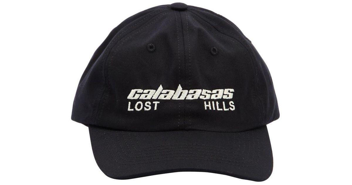 3b019dc74 Yeezy Calabasas Lost Hills Canvas Hat in Black for Men - Lyst