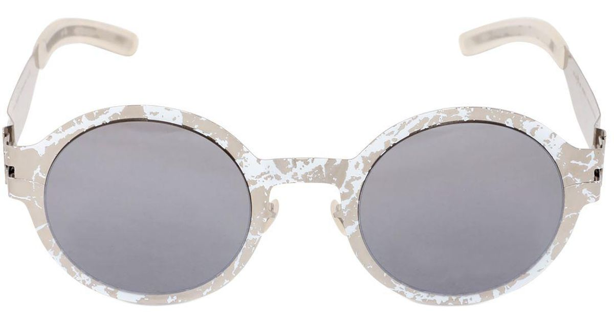 041f2c9c909 Mykita Maison Margiela Hand-painted Sunglasses in White for Men - Lyst
