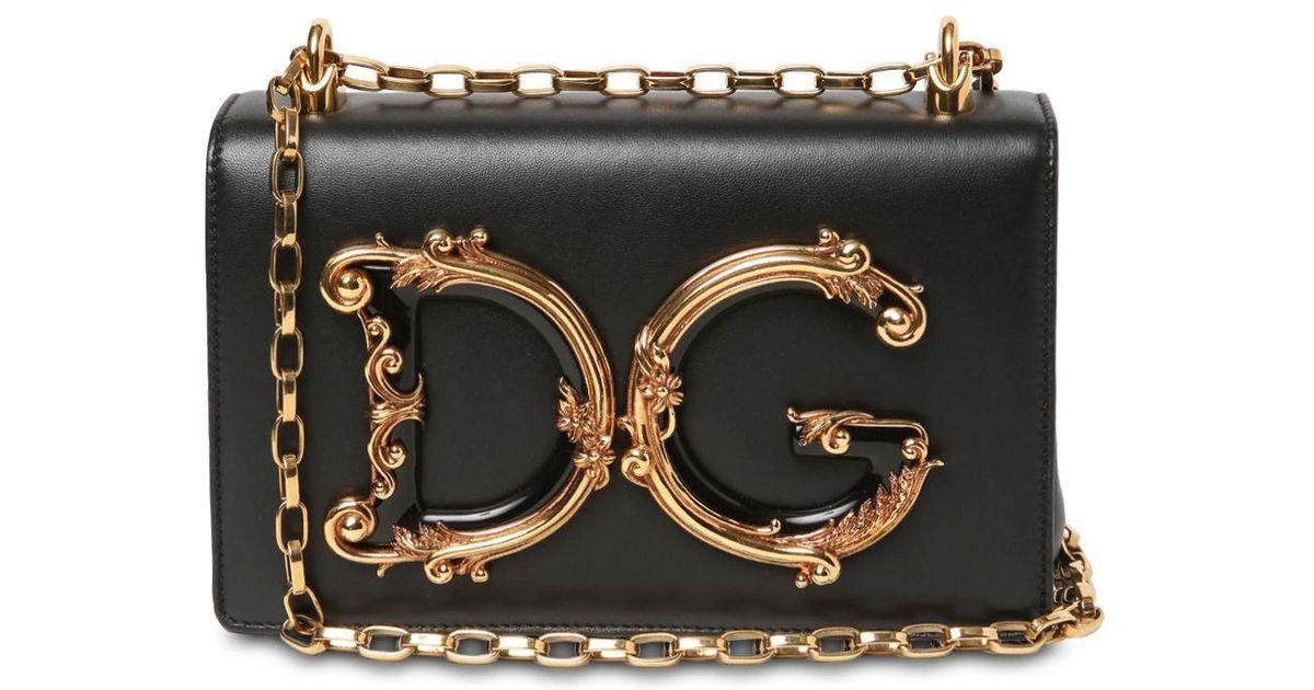 6329c2650651 Dolce   Gabbana Dg Girls Shoulder Bag In Nappa Leather in Black - Lyst