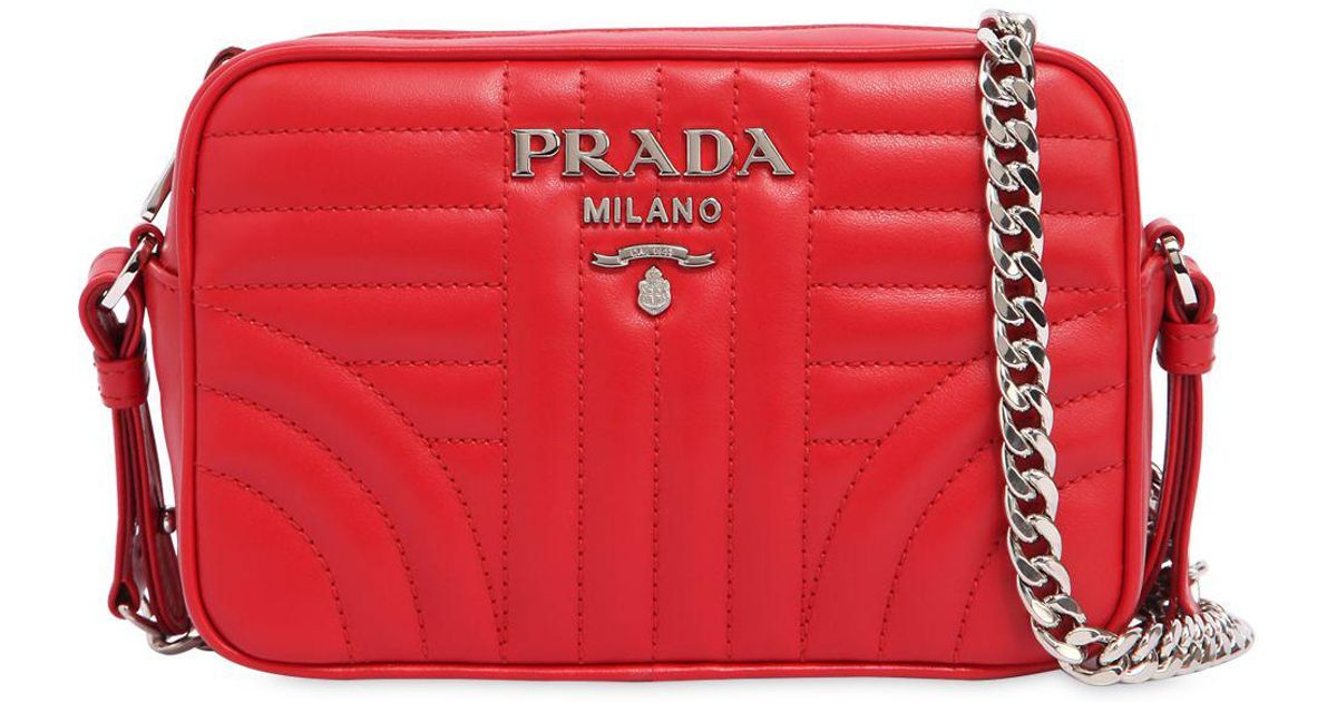 de8a6f66e162 ... shoulder ec9f7 c4f7c new zealand prada small quilted soft leather  camera bag in red lyst f079d e35ba sale bicolorleathercameracrossbodybagred  ...