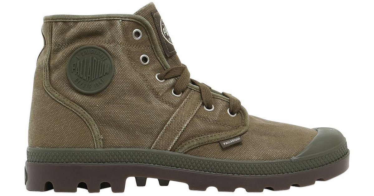Palladium PALLABROUSE WASHED CANVAS MID BOOTS VkbbL