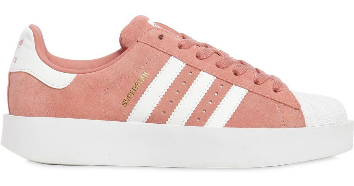 6d519df626be17 ... ireland adidas originals superstar bold leather sneakers in pink lyst  f060c 90528