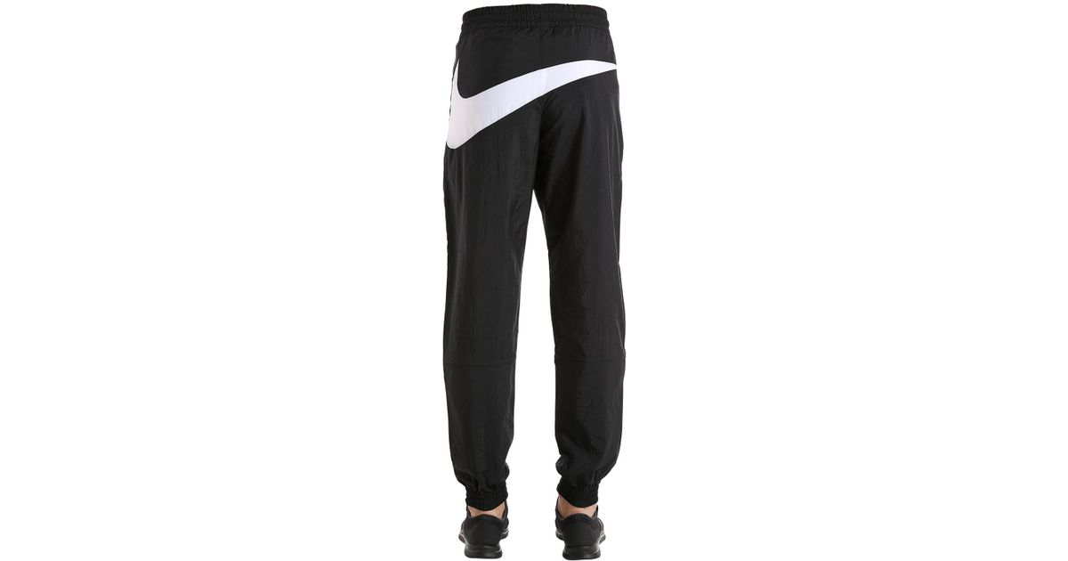 f0c3565b404a35 Nike Vaporwave Swoosh Woven Track Pants in Black for Men - Lyst