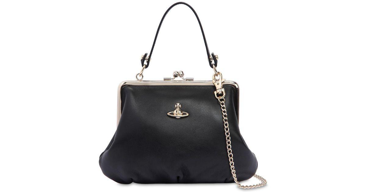 c202a687edb8 Lyst - Vivienne Westwood Nappa Leather Shoulder Bag in Black