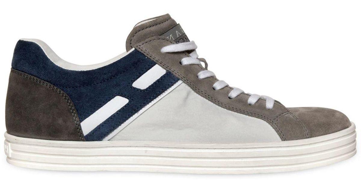 Hogan Rebel White Color Block Suede & Papirok Sneakers for Men Lyst