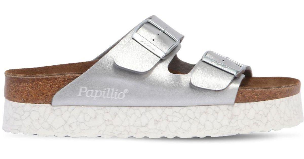 43a6dd1c9fc8 Birkenstock Papillio By  arizona - Birko-flor  Platform Sandal in Metallic  - Lyst