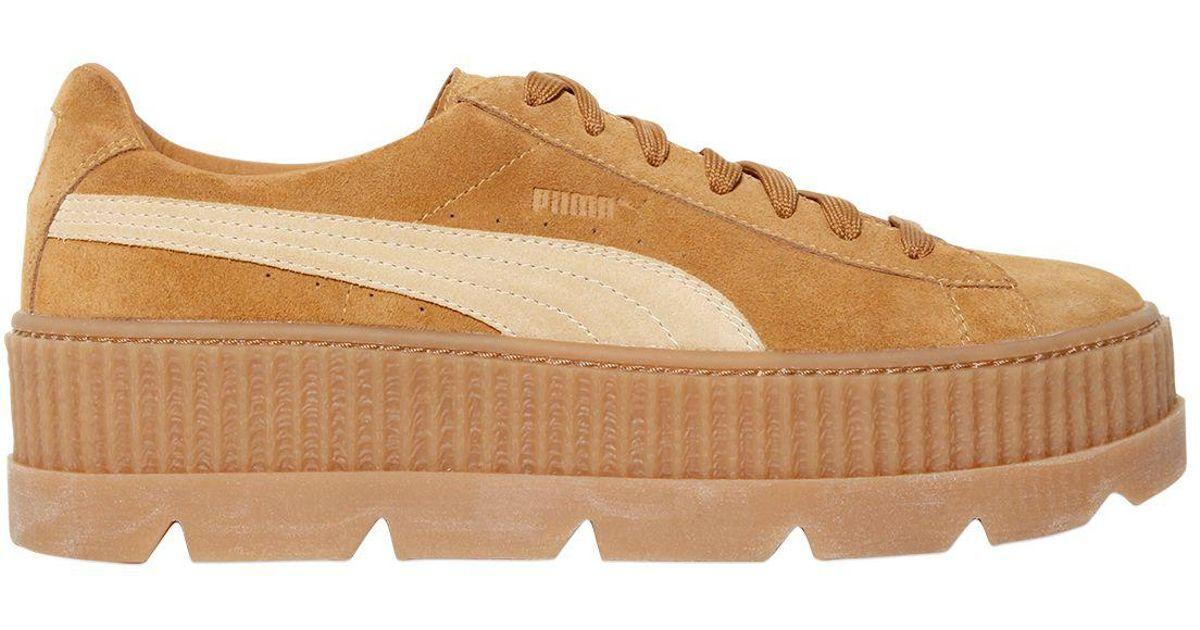 7ec9fb7ab54 Lyst - Puma X Fenty By Rhianna Sneakers Creeper In Camoscio 40mm in Brown
