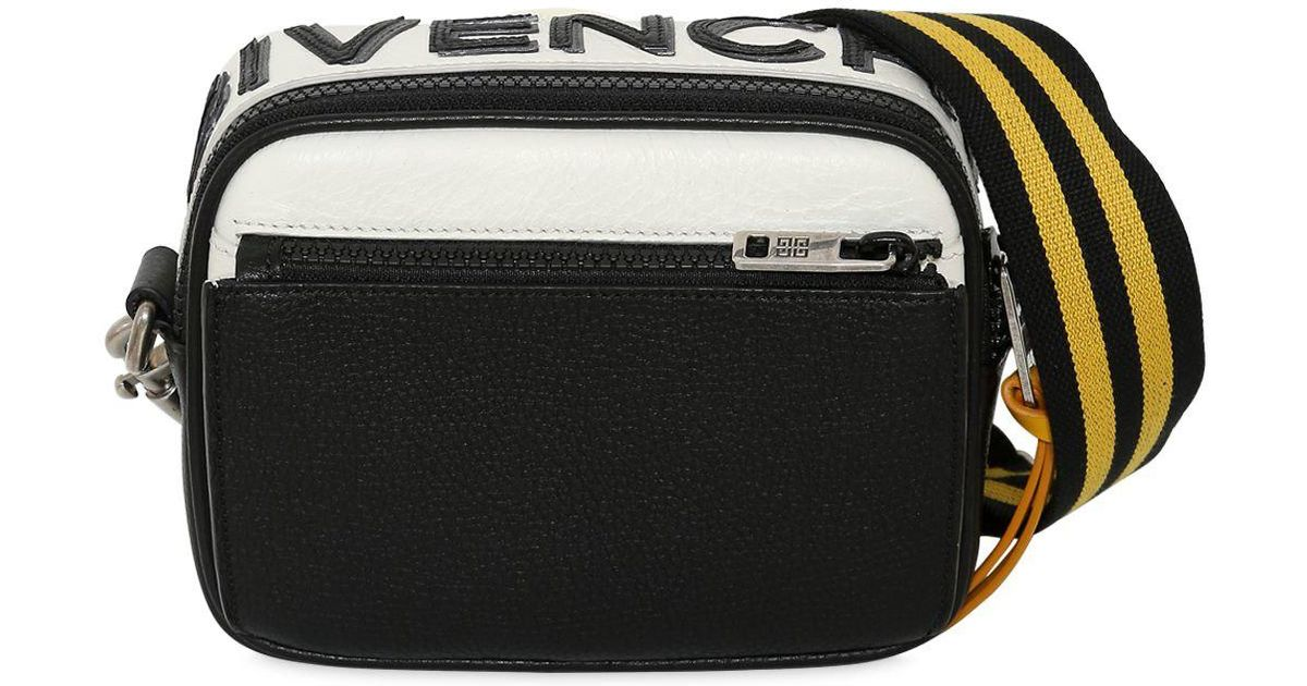 Lyst - Givenchy Reverse Logo Leather Crossbody Bag in Black for Men 0a9deb1e8ae18