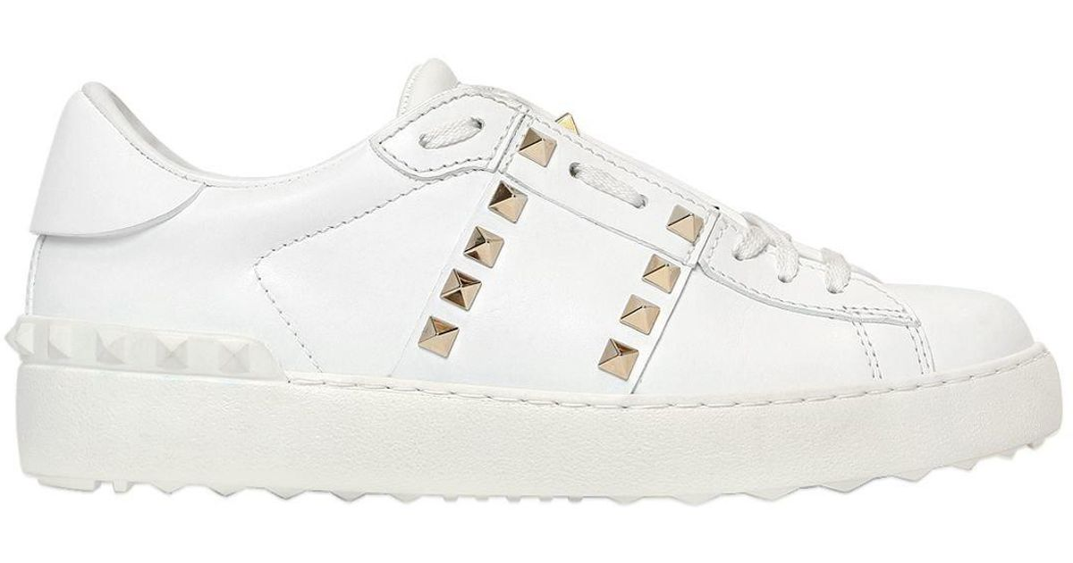 Valentino rosa farfetch Pelle 'Rockstud Untitled' Sneakers White XPrgXf