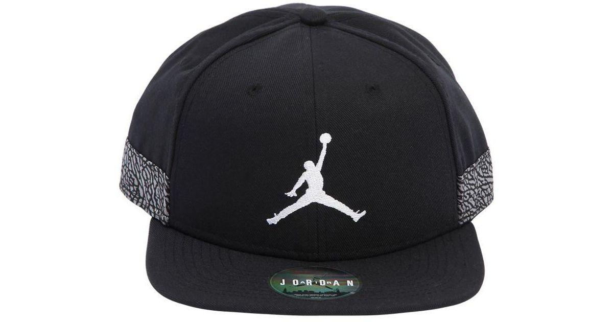 145f5555aea6 Nike Air Jordan Jumpman Pro Aj 3 Hat in Black for Men - Lyst