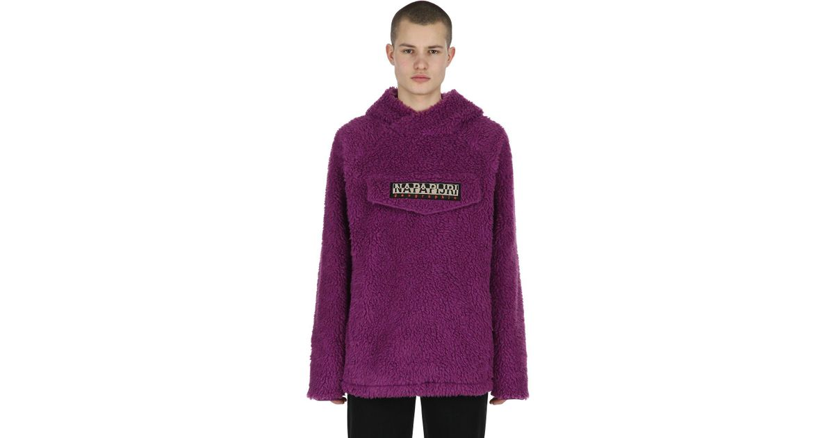 Lyst - Napapijri Tribe Telve Fleece Popover Hoody in Purple for Men - Save  97% c008b80eb49