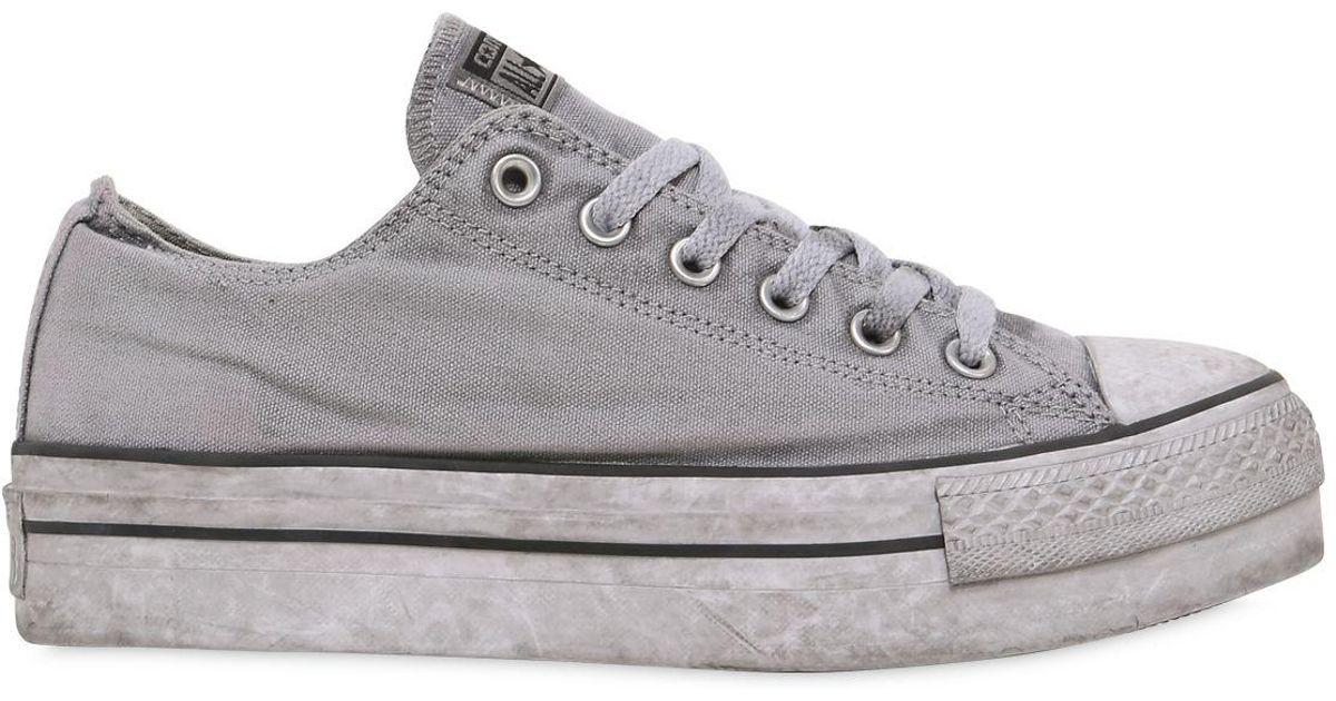 3d42c2f1a21c Converse Ltd Ctas Canvas Platform Sneakers in Gray - Lyst