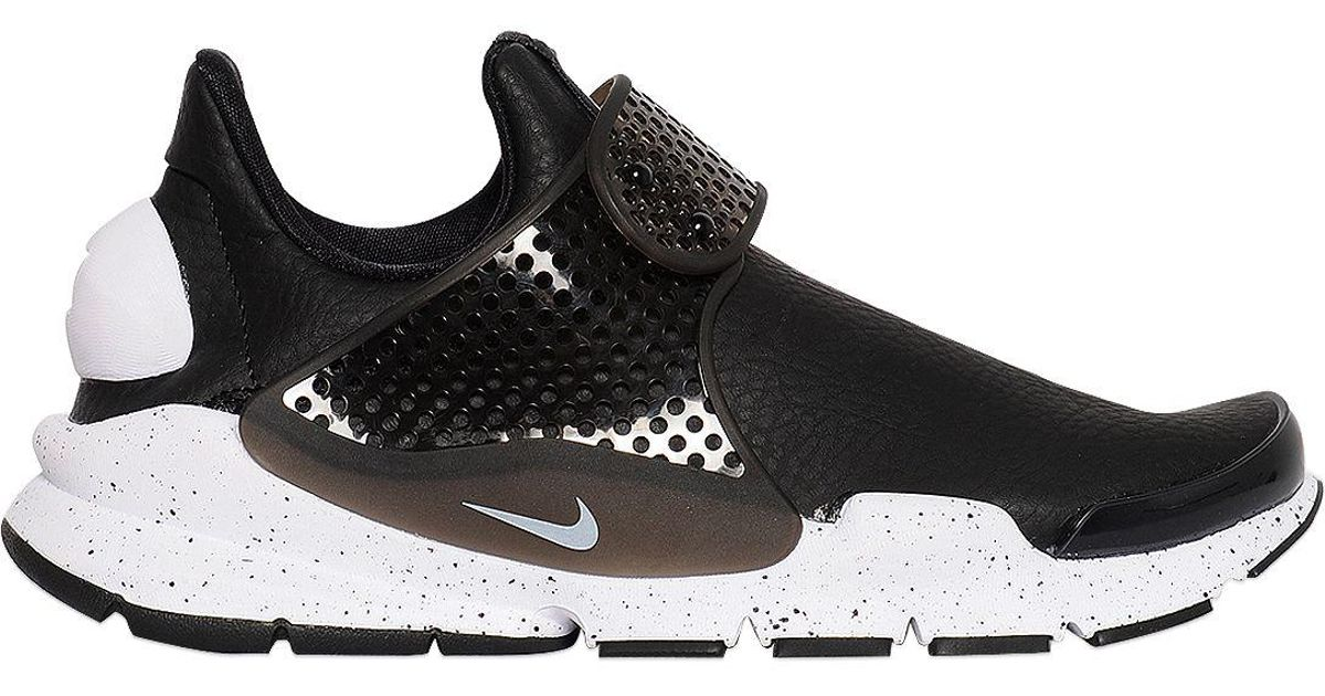 eefd01a8d14f Lyst - Nike Sock Dart Premium Faux Leather Sneakers in Black for Men