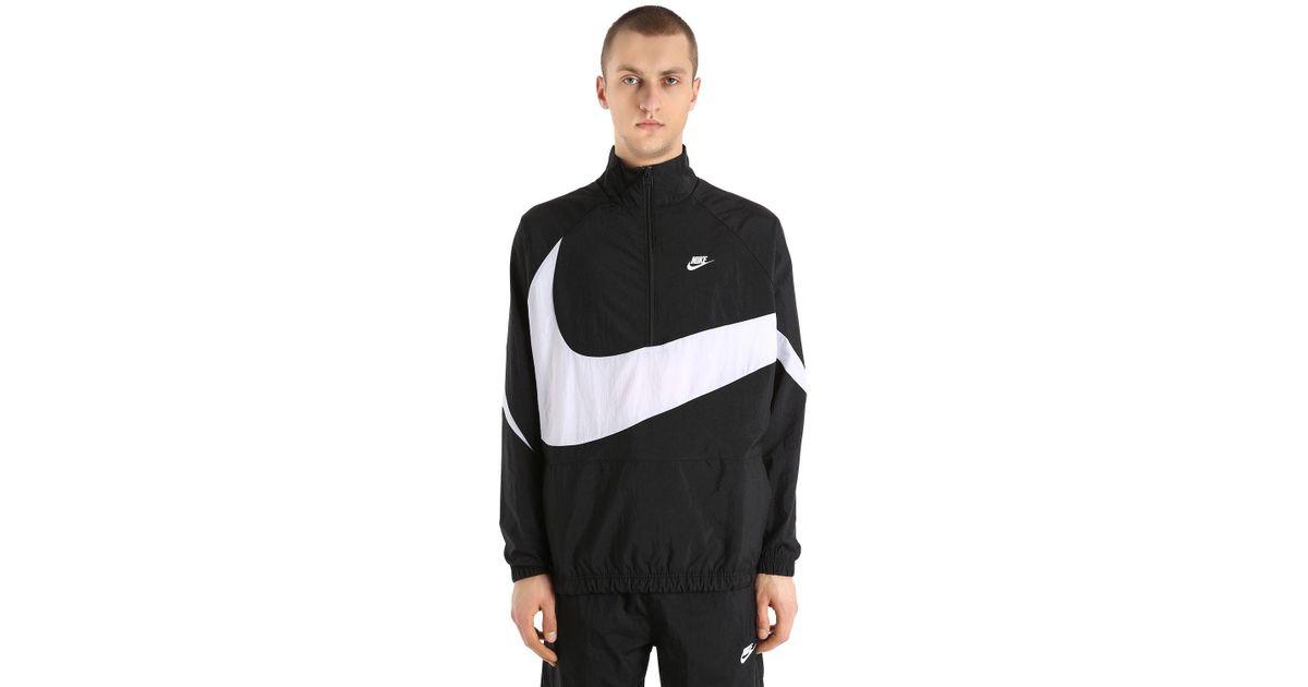 best website 9defa 42513 Nike Vaporwave Swoosh Woven Track Jacket in Black for Men - Lyst