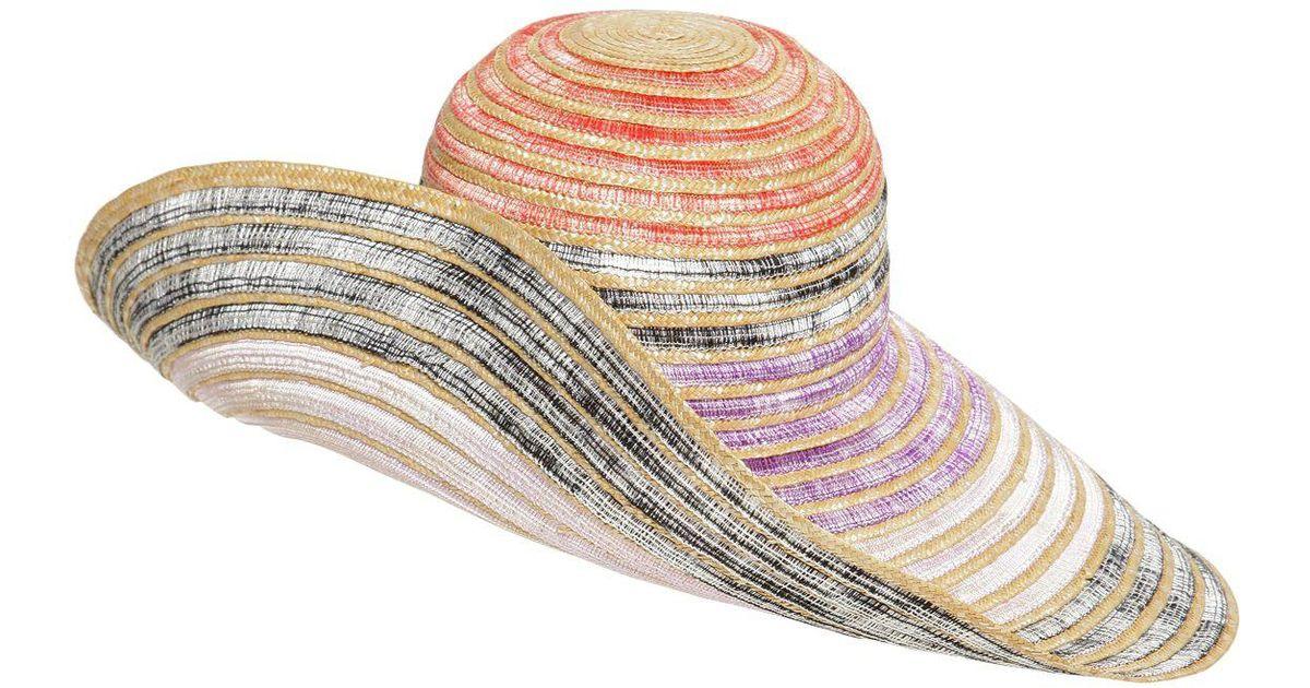Missoni Wide Brim Straw Hat - Lyst 4c72077a5958