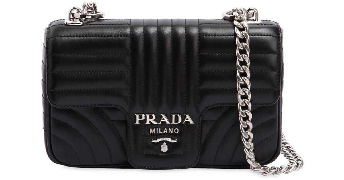 38e93e584484 sale prada cahier astrology velvet shoulder bag black nero 7d0b6 86238  sale  lyst prada small quilted soft leather shoulder bag in black c119f ab029