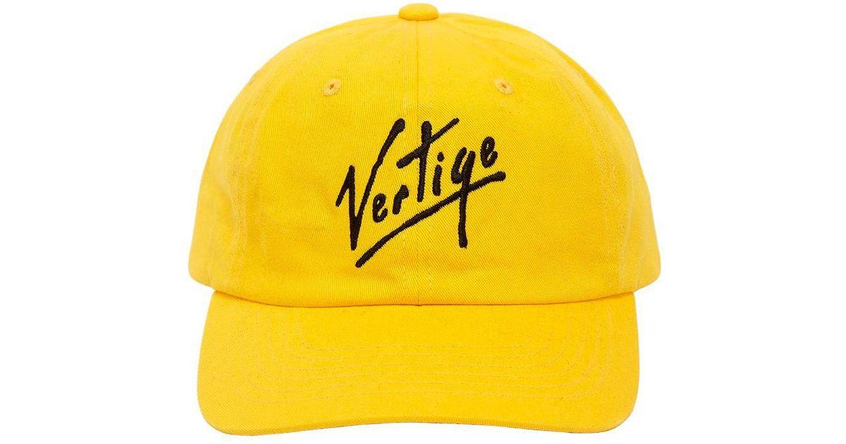 Lyst - Etudes Studio Vertige Embroidered Cotton Baseball Hat in Yellow for  Men dcf46f58422c