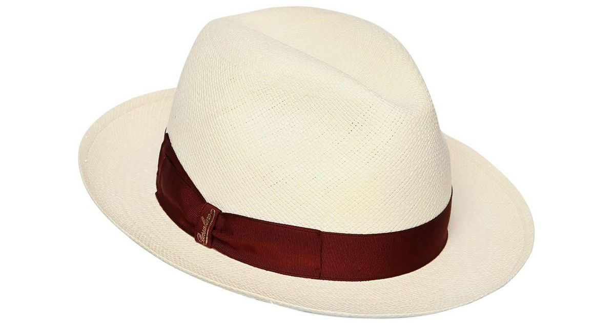 Lyst - Borsalino Quito Straw Panama Hat for Men a6b44bb0e7d9
