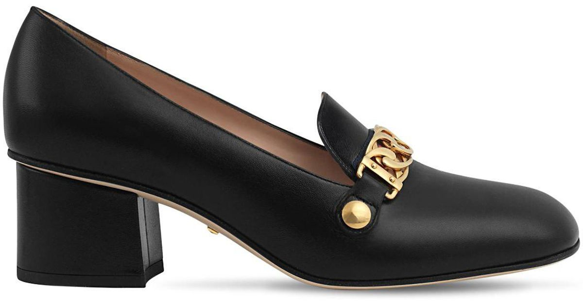 9147f617706 Lyst - Gucci Sylvie Loafer Pump in Black - Save 4%