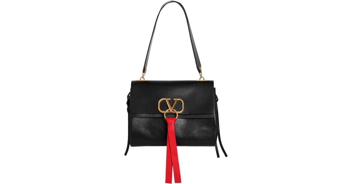 cd931594e0c6e Valentino Leather Vring Saddle Bag in Black - Save 16% - Lyst