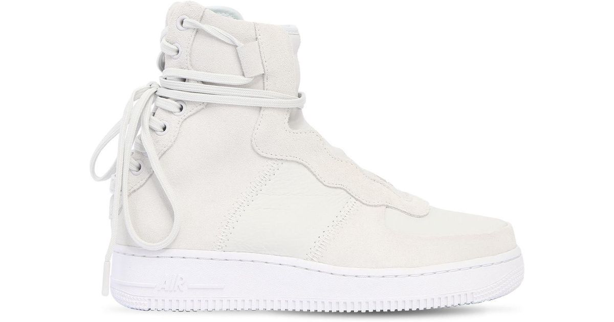 98a09c12812 Lyst - Nike Air Force 1 Rebel Xx Lace-up Sneakers in White