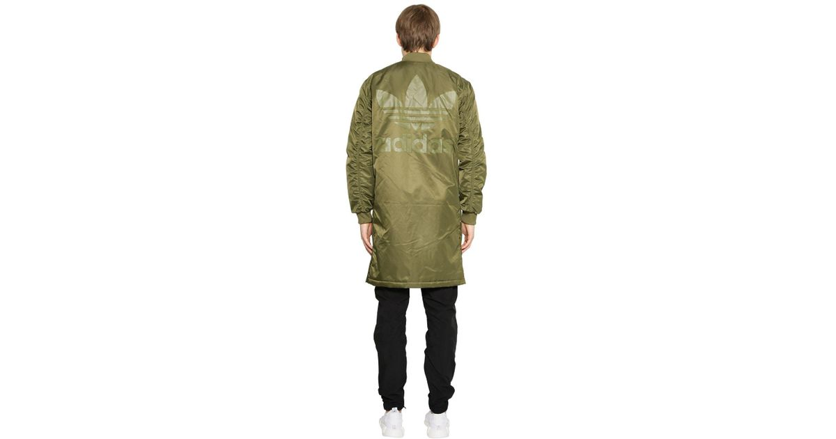 b78d935facb6 adidas Originals Sst Hzo Nylon Bomber Coat in Green for Men - Lyst