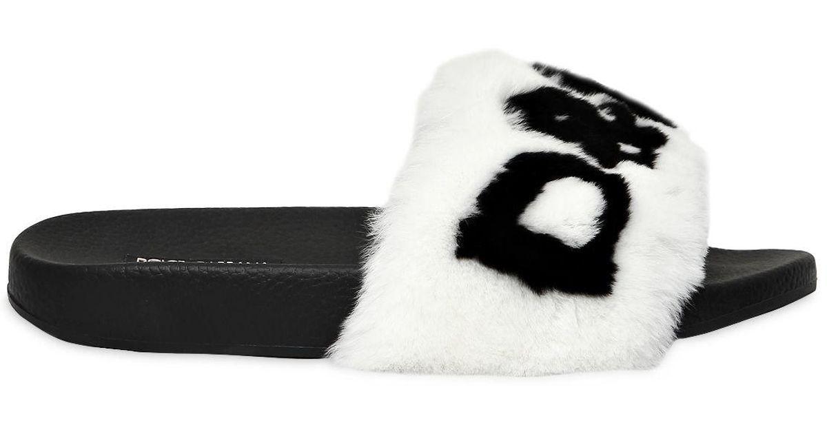 Dolce & Gabbana Lapin fur clutch with logo W1DCCeZqG