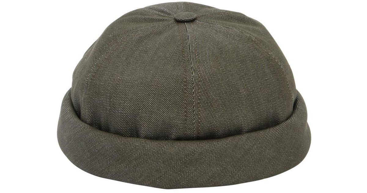 4a881208b06 Lyst - Beton Cire Handmade Washed Cotton Denim Sailor Hat in Green for Men