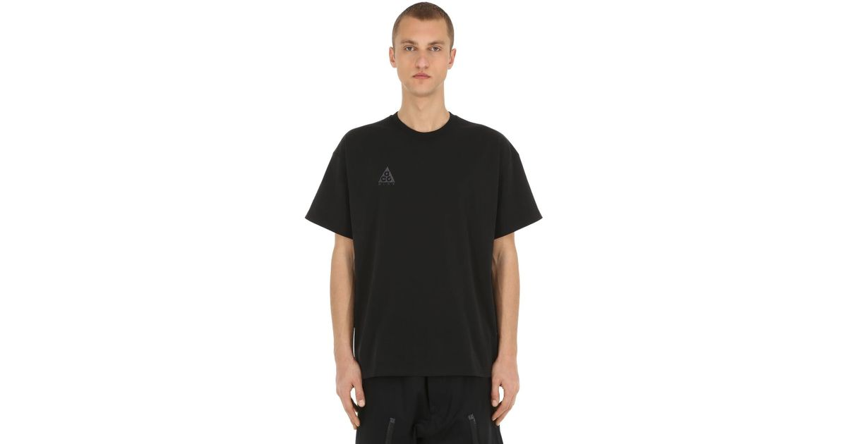 d1a09fc40c Lyst - Nike M Nrg Acg Ss Logo T-shirt in Black for Men