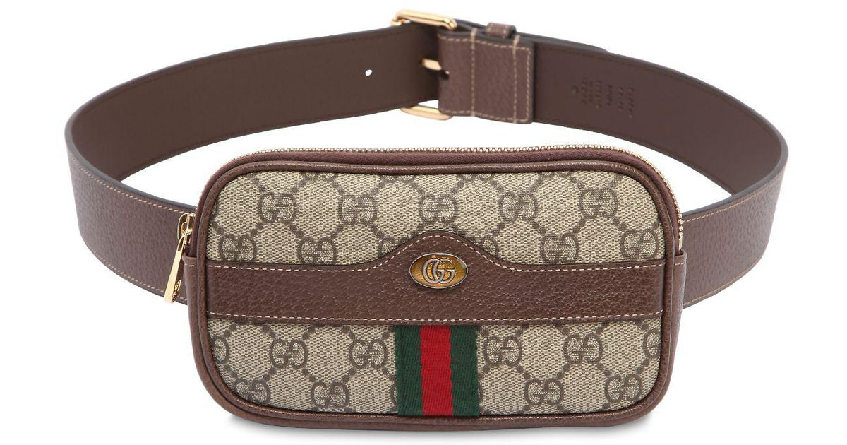 0e424f83b Gucci Ophidia GG Supreme Belted Iphone Case in Natural - Lyst