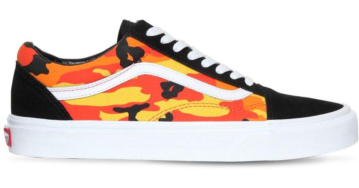 d2909c087c2aba Vans Old Skool Pop Camo Sneakers - Lyst