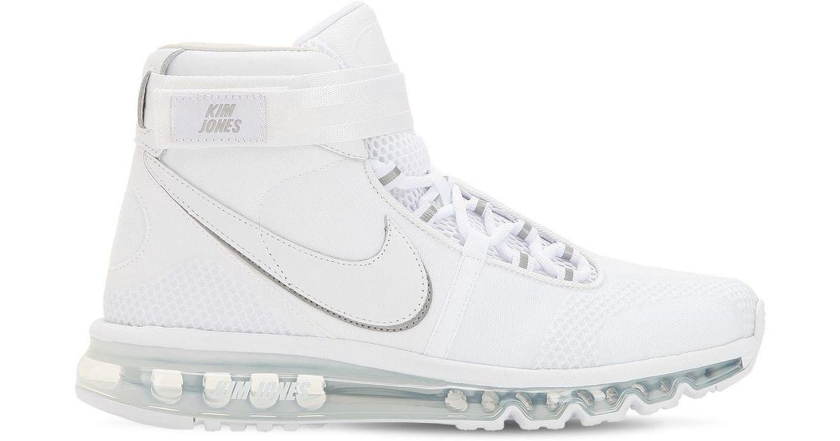 new arrival c97bb ff5d0 Nike Air Max 360 Kim Jones High Top Sneakers in White for Men - Lyst