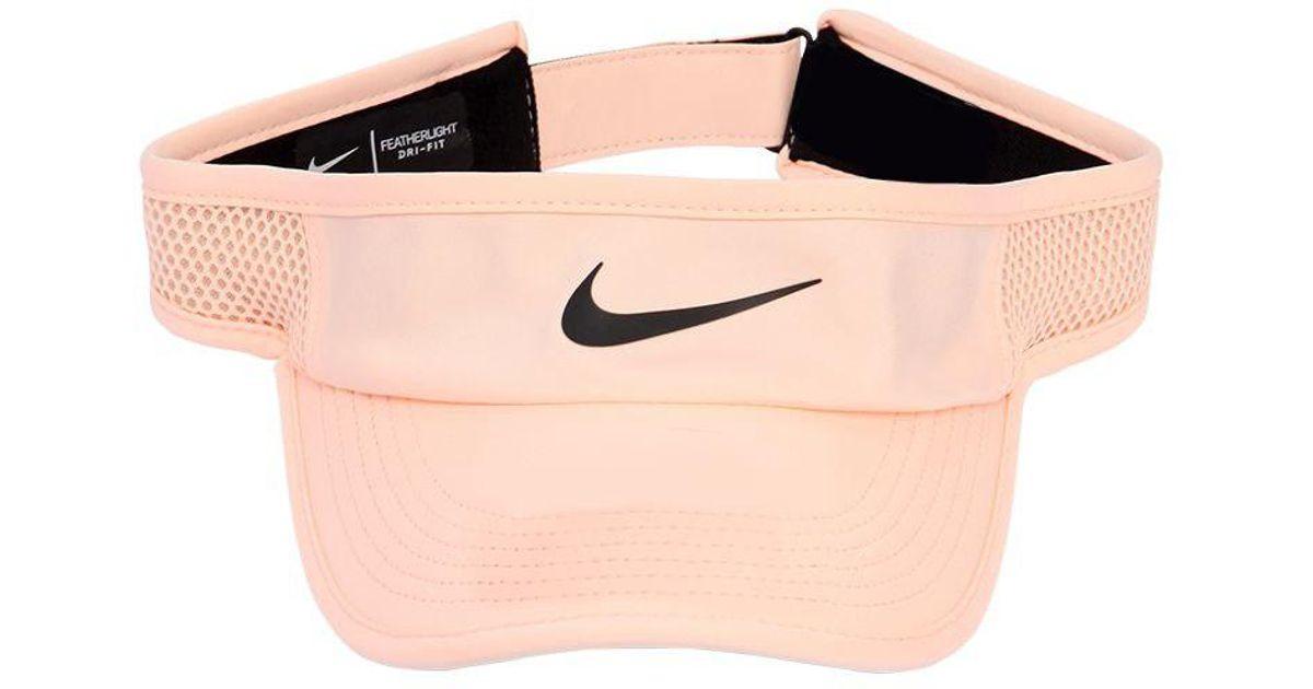 4ca6f91eb81 Nike Court Aerobill Tennis Visor in Pink - Lyst