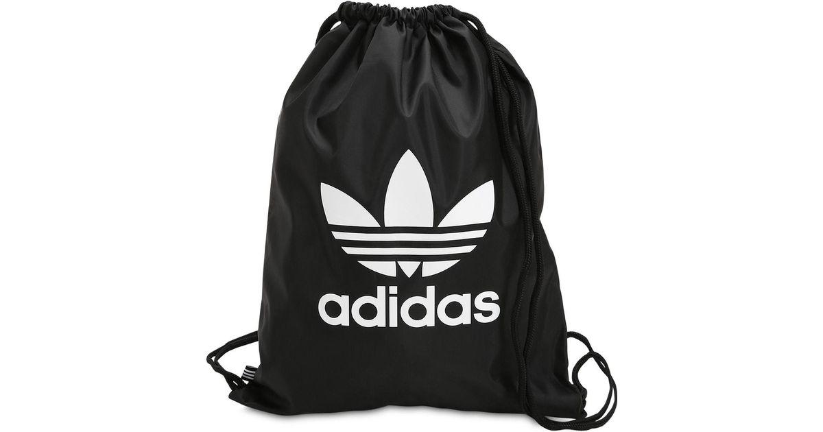 b134804656 adidas Originals Trefoil Drawstring Backpack in Black - Lyst