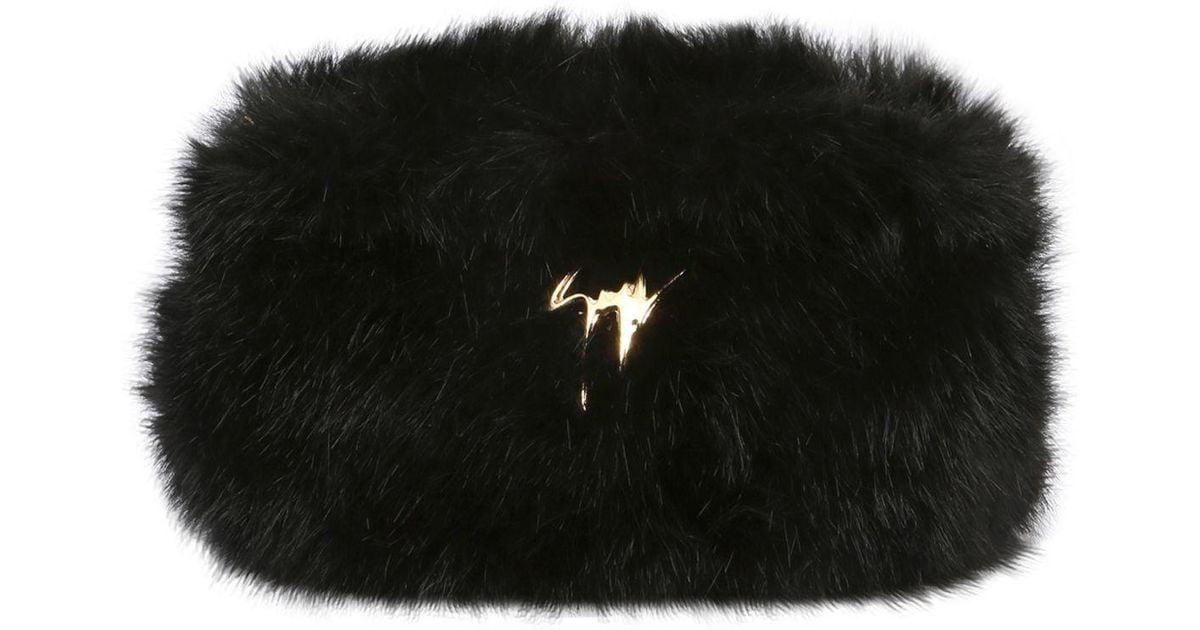 Blush faux fur clutch Giuseppe Zanotti 9N9Jxn