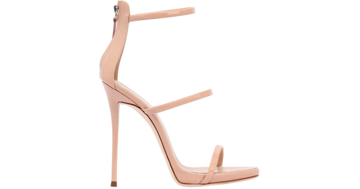 Harmony Star 120 rose gold leather sandals Giuseppe Zanotti
