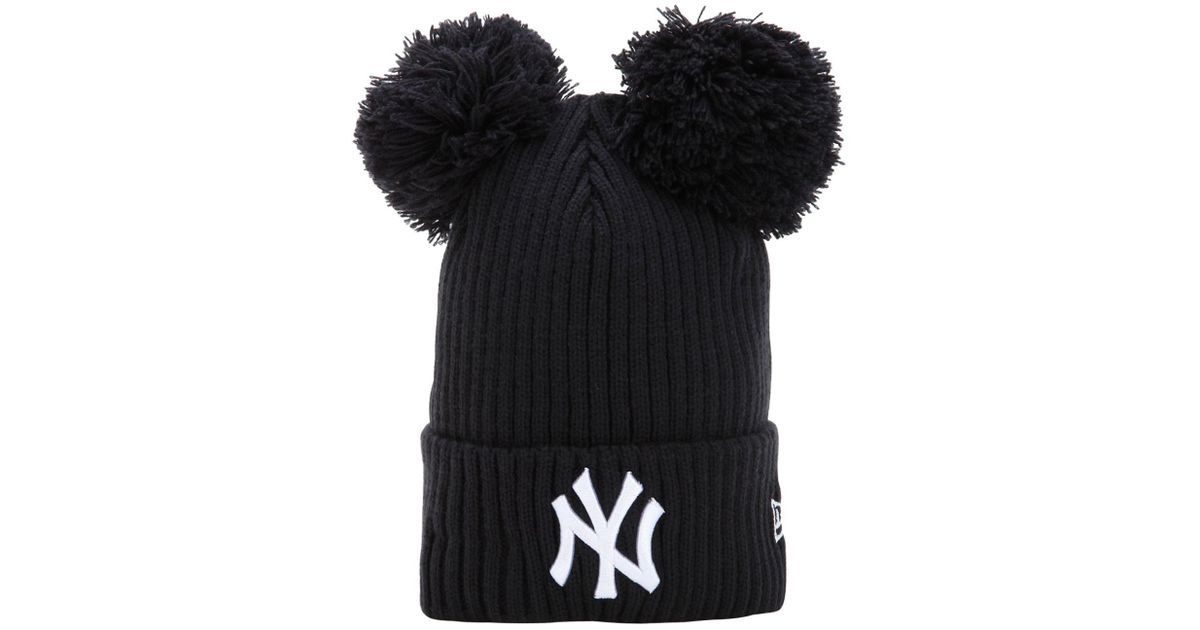 Lyst - KTZ Ny Yankees Beanie Hat W  Popmpoms in Blue 3df47aed7fa