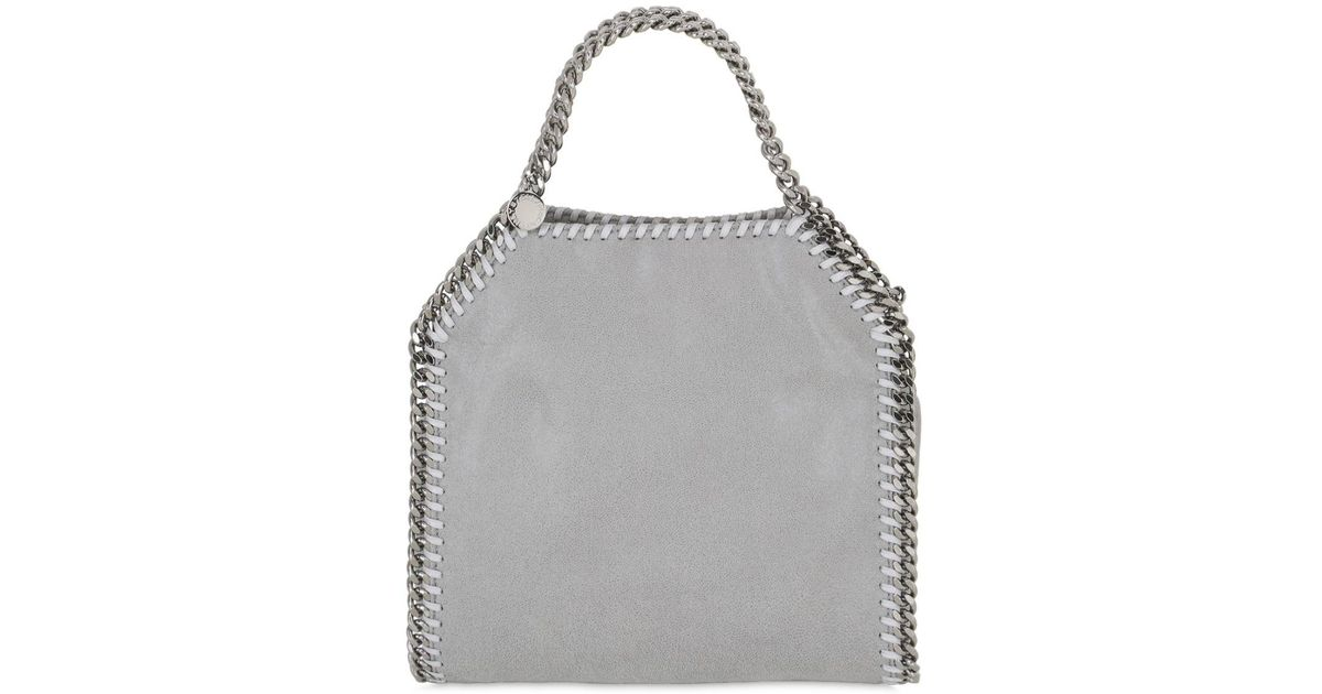 Lyst - Stella Mccartney Mini 3chain Shaggy Faux Deer Bag in Gray d20baf31a0f31