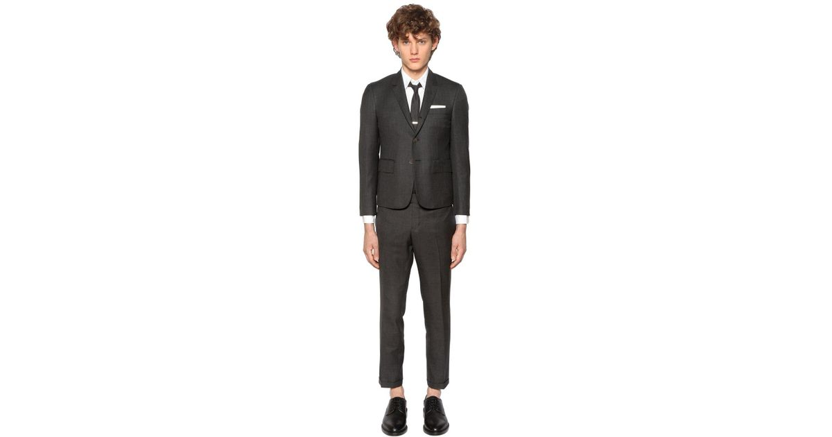 84c5d0133026 Thom Browne Skinny Fit Light Wool Gabardine Suit in Gray for Men - Save 40%  - Lyst