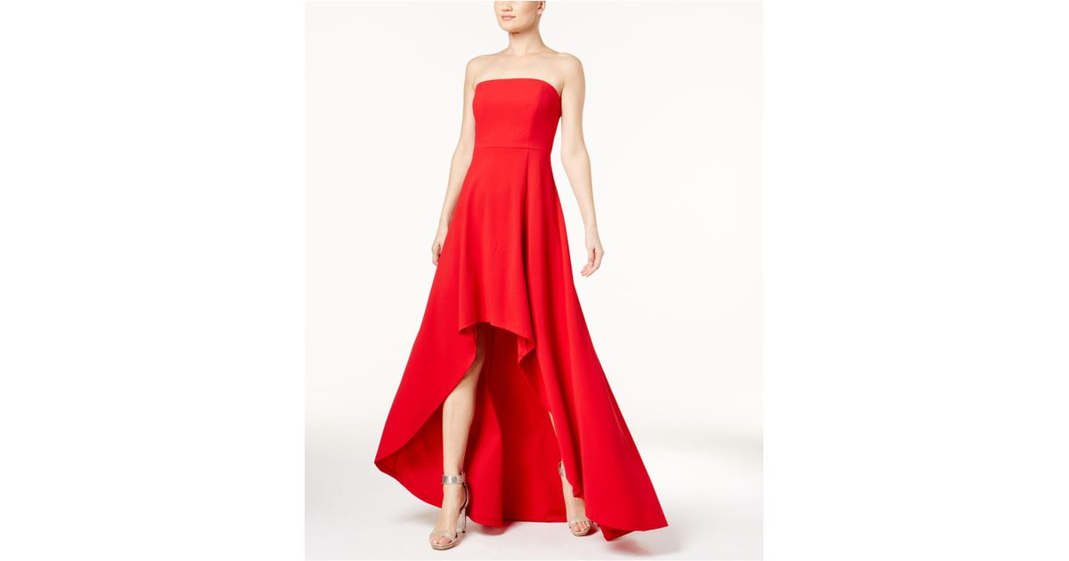 Lyst - Calvin Klein 205W39Nyc Convertible Strapless High-low Gown in Red